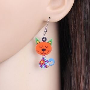 Jewelry - 2/$20 if bundled~~Colorful Cat Earrings